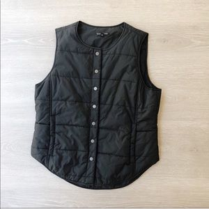 Eileen Fisher Snap Front Puffer Vest